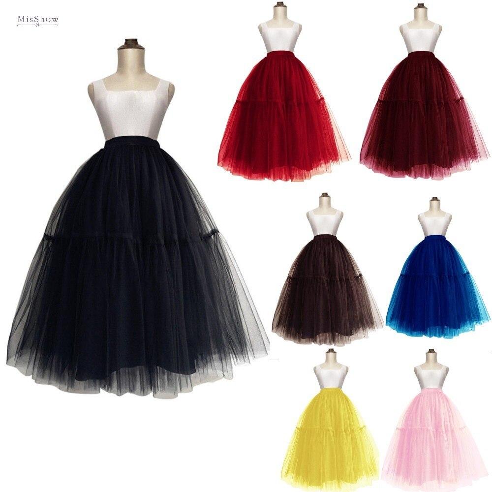 Layers Women Midi Tulle Skirt 2020 Princess Ballet Dance Adult Tutu High Waist Elastic Band Faldas Fashion Streetwear Clothes