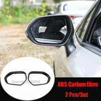 Abs chrome/fibra de carbono para toyota corolla e210 2019 2020 acessórios espelho retrovisor bloco chuva sobrancelha capa guarnição estilo do carro