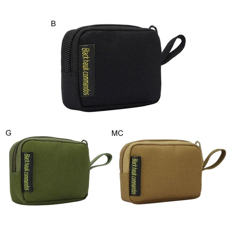 Men Wallet Card Holder Tactical Molle Waist Bag Waterproof Zipper Coin Purses