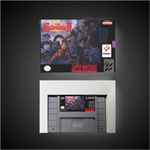 سوبر Castlevania IV 4 عمل بطاقة الألعاب نسخة الولايات المتحدة مع صندوق البيع بالتجزئة
