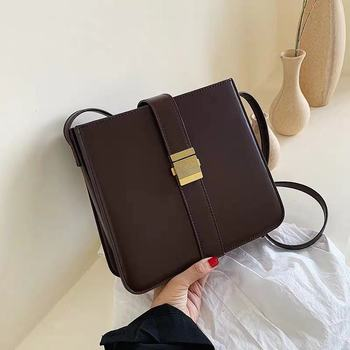Fashion Woman Shoulder Bag PU Leather Youth Ladies Small Square Bag light Wild Simple Female Daily Messenger Bag Waterproof Blue фото