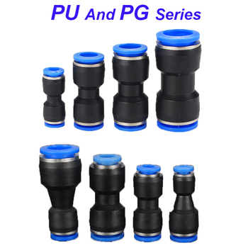 Pneumatic Fittings Fitting Plastic Connector PU 4mm 6mm 8mm 10mm For Air water Hose Tube Push in Straight Gas Quick Connection image