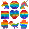 Rainbow Bubble Pops Fidget Kids Toy Sensory Autisim Special Need Toy Anti-stress Stress Relief Squishy Fidget Toy Random Color