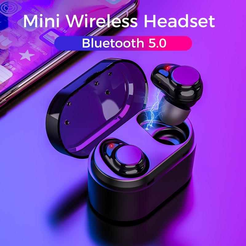 2019 Doboss Fones De Ouvido Sem Fio Bluetooth 5.0 Fones De Ouvido Esporte 3D Handsfree fone de ouvido Estéreo de Alta Fidelidade Fones de Ouvido Fone de Ouvido Com Micr