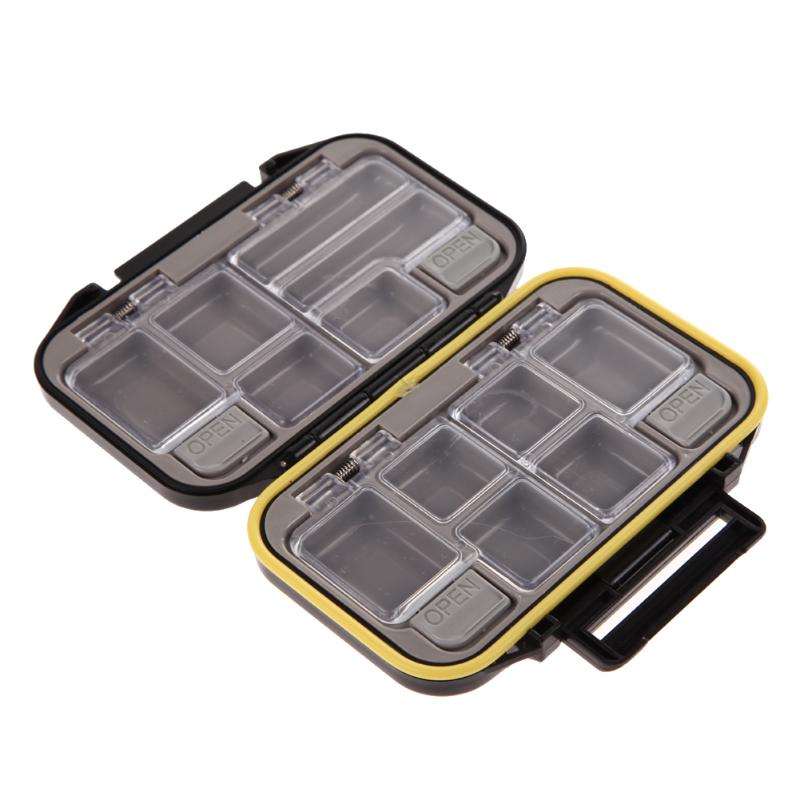 Waterproof Bait Tackle Waterproof Storage Box Case 12 Compartments Fish Pocket Box Fishing Tackle Accessories
