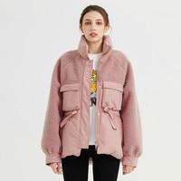 New winter warm coat for women original design sewing grain velvet was thin collar drawstring jacket F78