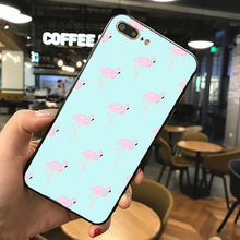 News Phone Case For iPhone 8 7 6 Plus X XS Flamingo Shell Cases On 5S 6S Soft TPU Silicone Back Cover