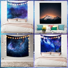 Cassisy Scenery Fashion Tapestry Bedroom Landscape Sky Starry Art Printed Wall Hangings Carpet Room Decor Beach Towel Polyester цена 2017