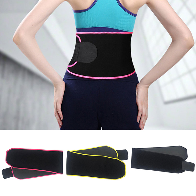 Belly Slimming Trimmer Waist Trainer Outdoor Workout Running Wide Waistband Sweat Waist Belt Body Shaper Corset Waist Shaper