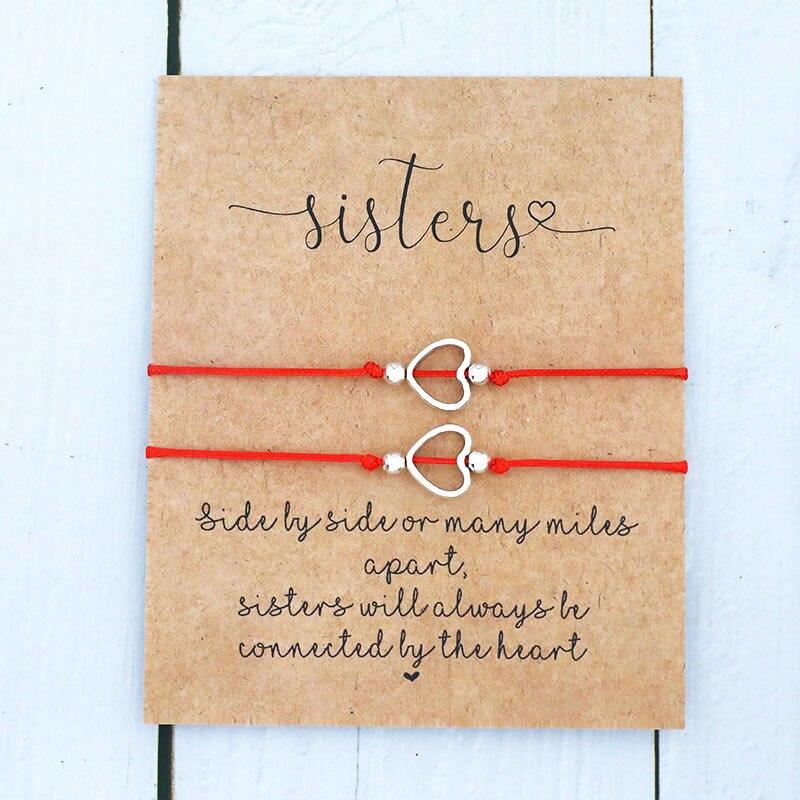 2 шт./компл. желаемая карточка, Мерцающая цитата, Бриллиантовое сердце, ювелирные изделия для женщин и мужчин, лучшая подруга