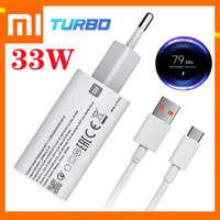 Caricabatterie Turbo Carregador Xiaomi Redmi Note 9 adattatore di alimentazione originale 33W cavo di ricarica rapida 5A USB tipo C per Mi Poco X3 11 10