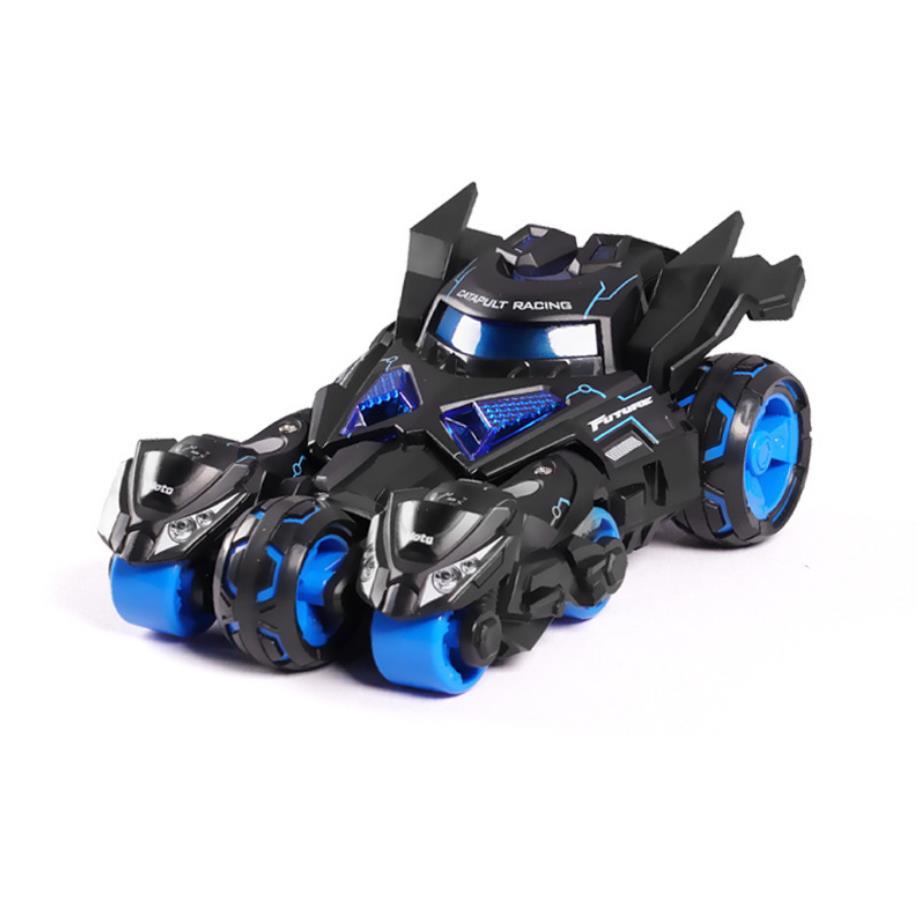 Chaude 1:32 échelle roues moulé sous pression voiture moto éjection Chariot modèle en métal avec lumière et son Batmobile tirer arrière véhicule jouet