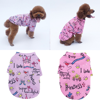 Thicken Warm Dog Clothes Soft Cotton Pet Clothes for Small Large Dogs Vest Shirt Print Pet Sweater Puppy Cat Pullover Clothing image
