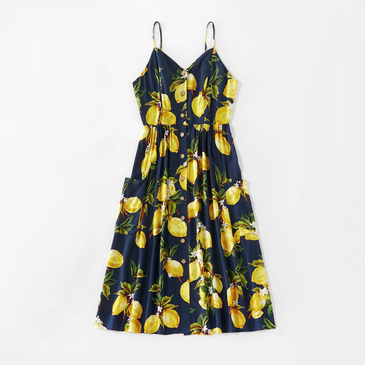 Family Matching Dress Lemon Series | Tank Dresses, Rompers, and Tops | Matching Outfits Family Look Sets
