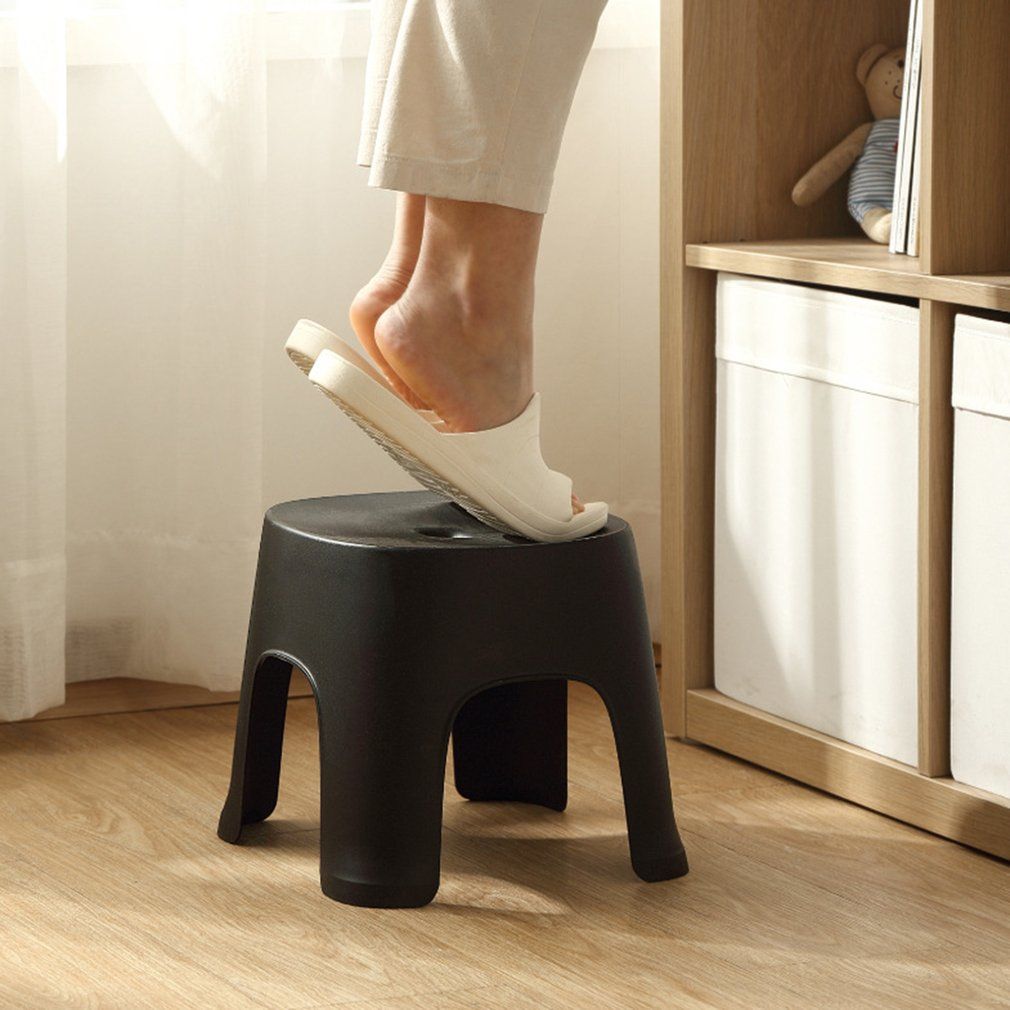 New Bathroom Row Bench Stool Household Bathroom Stool Plastic Stool Thicken Non-slip Shoe Bench Child Stool Foot Bench