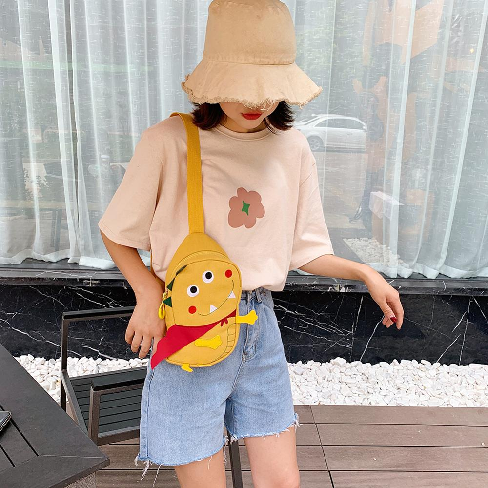 Abstract Cartoon Pattern Shoulder Packs Women Canvas Crossbody Chest Bags Travel Crossbody Shoulder Bags Mochila Mujer