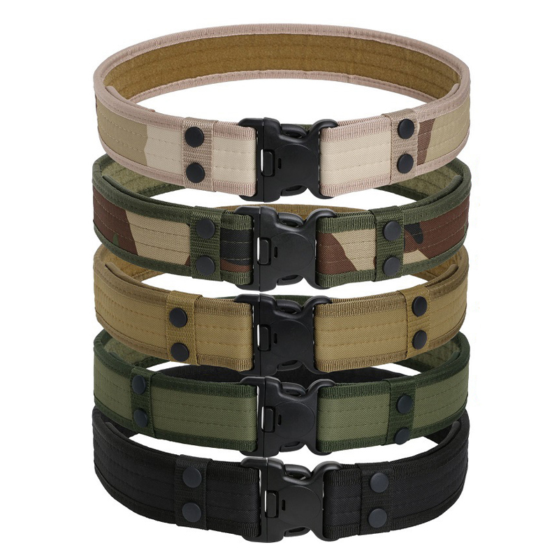 Outdoor Sport Hunting Belt Canvas Adjustable Men Camping Equipment Sport Shooting Airsoft Paintball Belts Tactical Waistband
