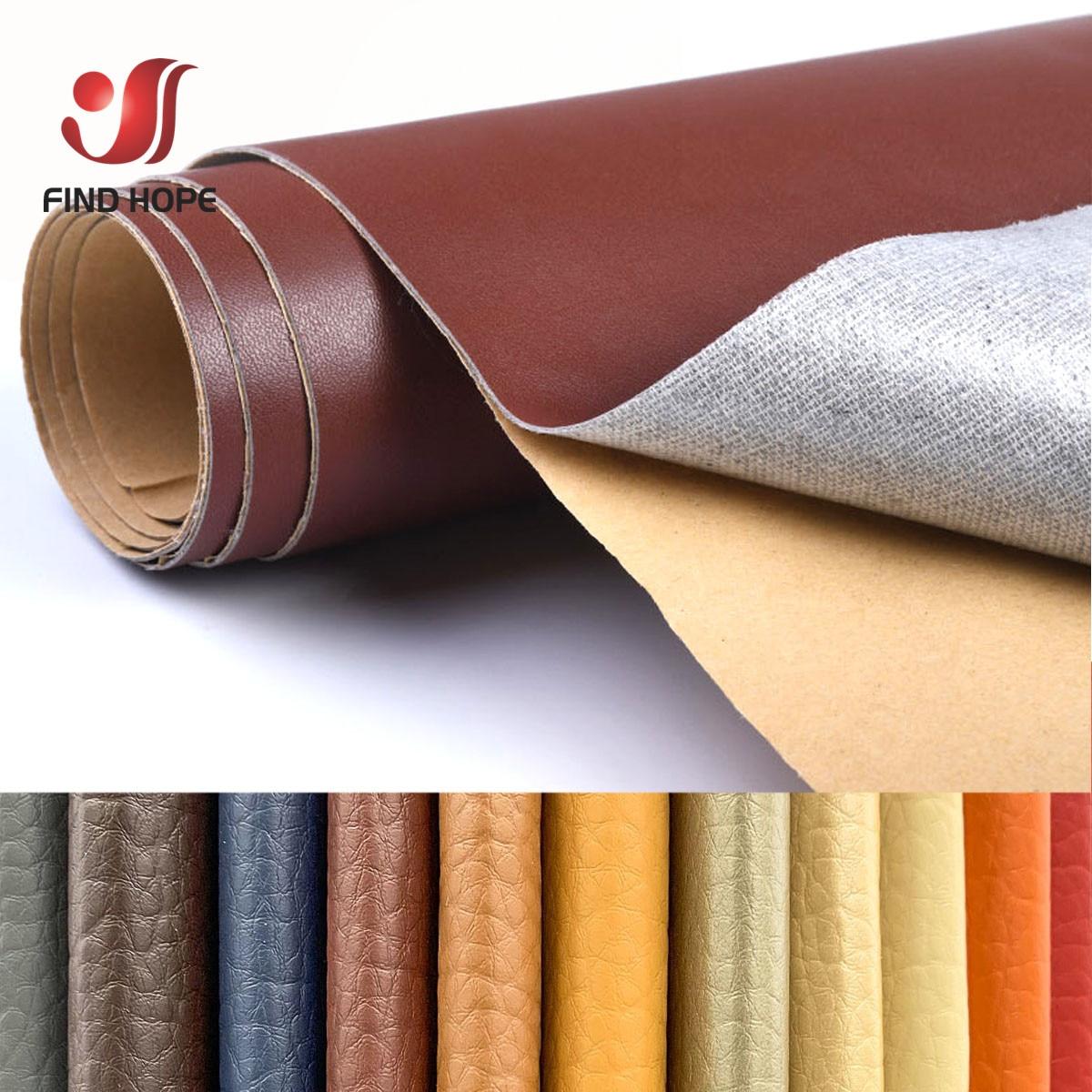 A4 A5 40*120cm Litchi Pattern Back  Self-adhesive Stick Faux PU Leather Fabric Repair Patch Sticker For Sofa Car Bag DIY Craft 1