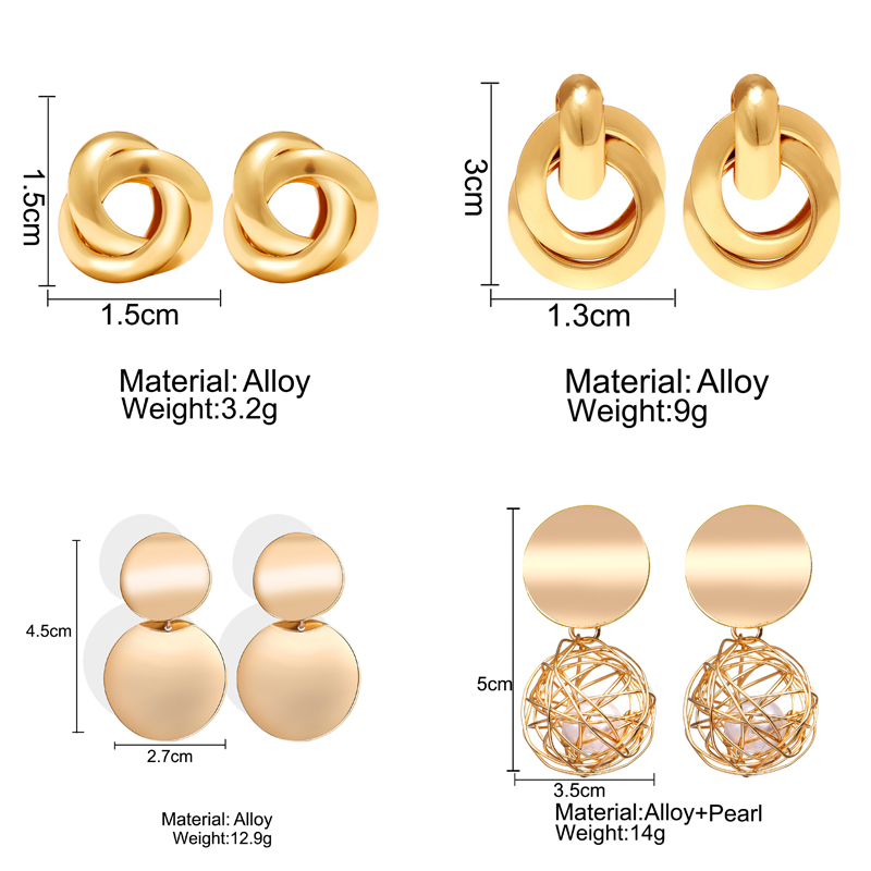 Hed041d4fe361453696ad27e03d5a5788K - Hot Sale Gold Drop Earrings Jewelry Earrings For Women C Shaped Round Geometric Earring Female Fashion Jewelry Gifts