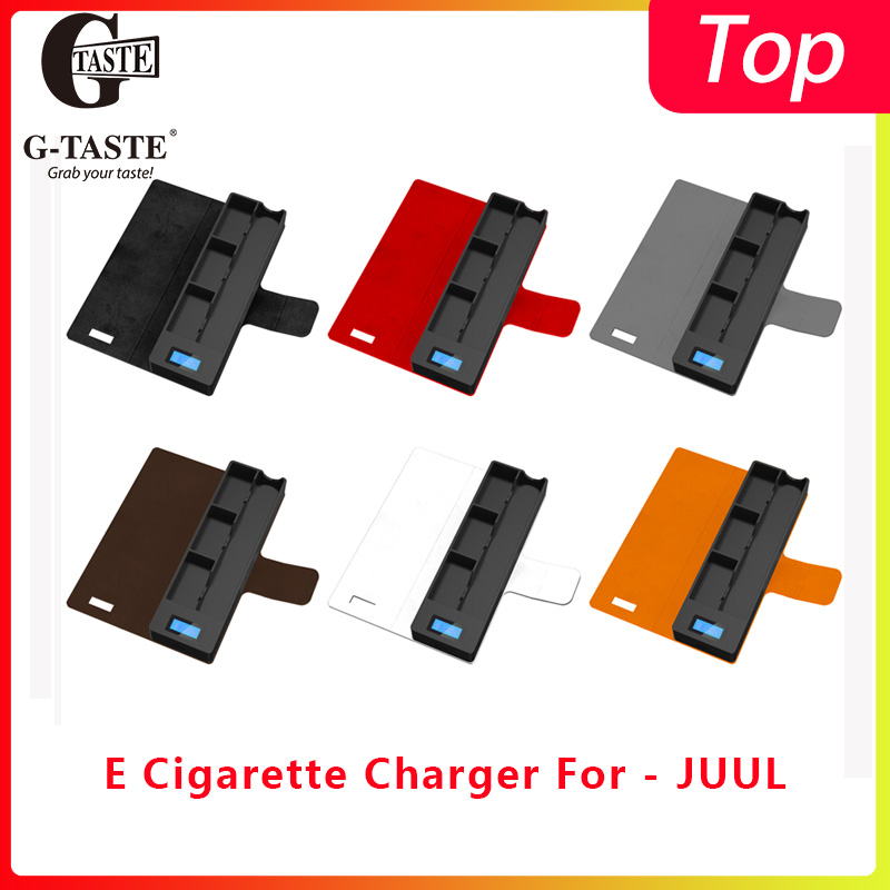 E Cigarette Charger For JUULs 1200MAH Charging Case Pod Holder Charger Indicator For-juul Charger Portable USB Charger Jull Case
