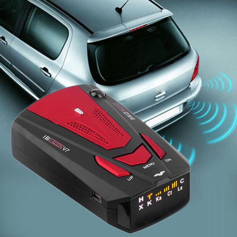 Nueva pantalla LED de advertencia de 360 grados, Detector de radares GPS automático de 16 bandas para coche V7 X K NK Ku Ka, aviso por voz con VG-2 láser de velocidad OkeyTech, Sensor de aparcamiento Parktronic, 4 Sensor de marcha atrás, Detector de Radar, LED Digital, asistencia para aparcamiento de coches, sistema de alarma para todos los coches
