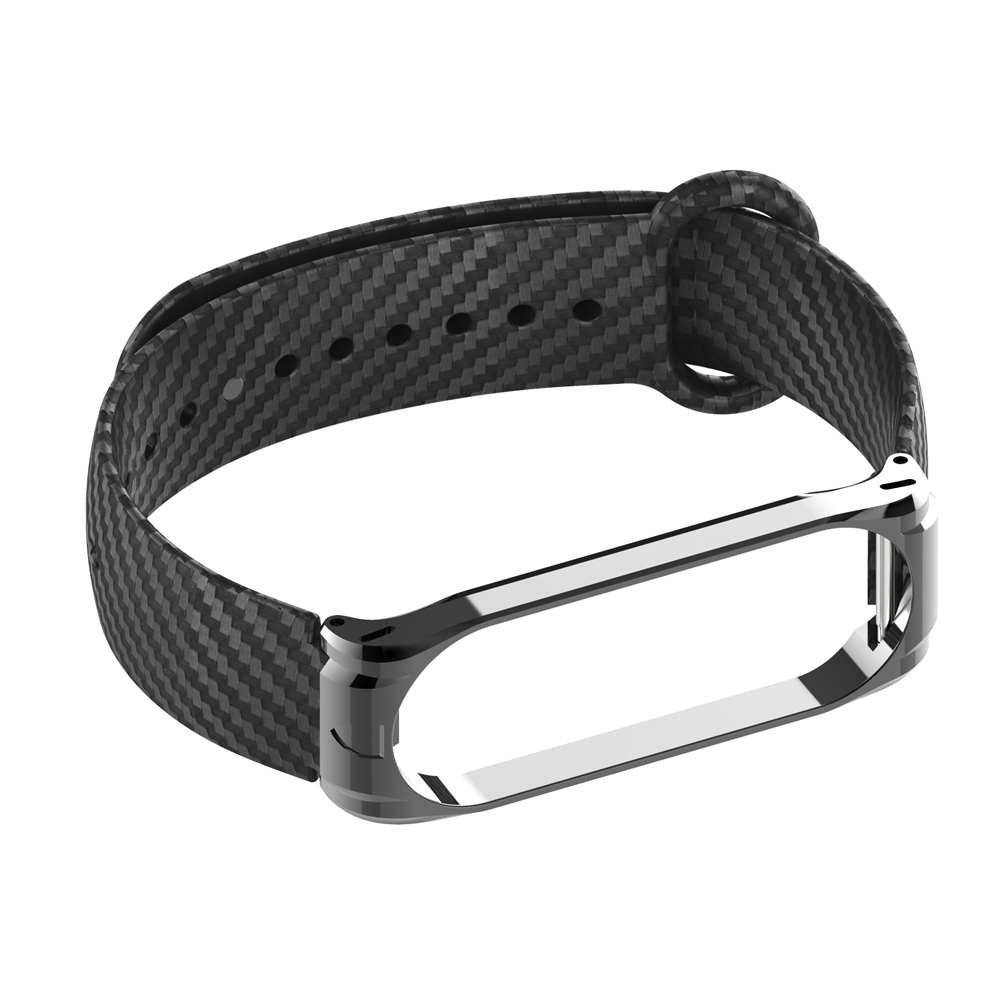 Carbon Fiber Strap For Mi Band 3 4 Xiaomi Silicone Wrist Strap For Xiaomi Band 4 Waterproof Sport Wristband NFC Global Women Men