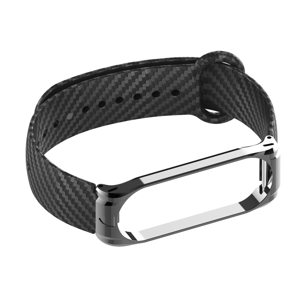 Carbon Fiber Strap For Mi Band 3 4 Xiaomi Silicone Wrist Strap For Xiaomi Band 4 Waterproof Sport Wristband NFC Global Women Men