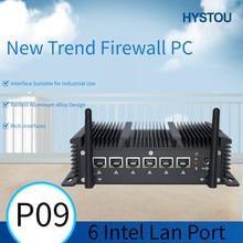 Hystou fanless 6 lan industrial mini pc intel 3865u núcleo i5 7267u i3 7167u 4 * usb3.0 2 * rs232 hdmi firewall pc pfsense roteador