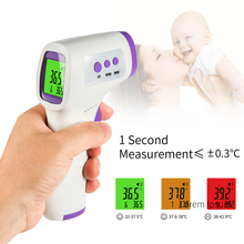 US in STOCK Digital adult Thermometer LCD Non contact Forehead Infrared forehead Gun For Electronic Thermometer ear