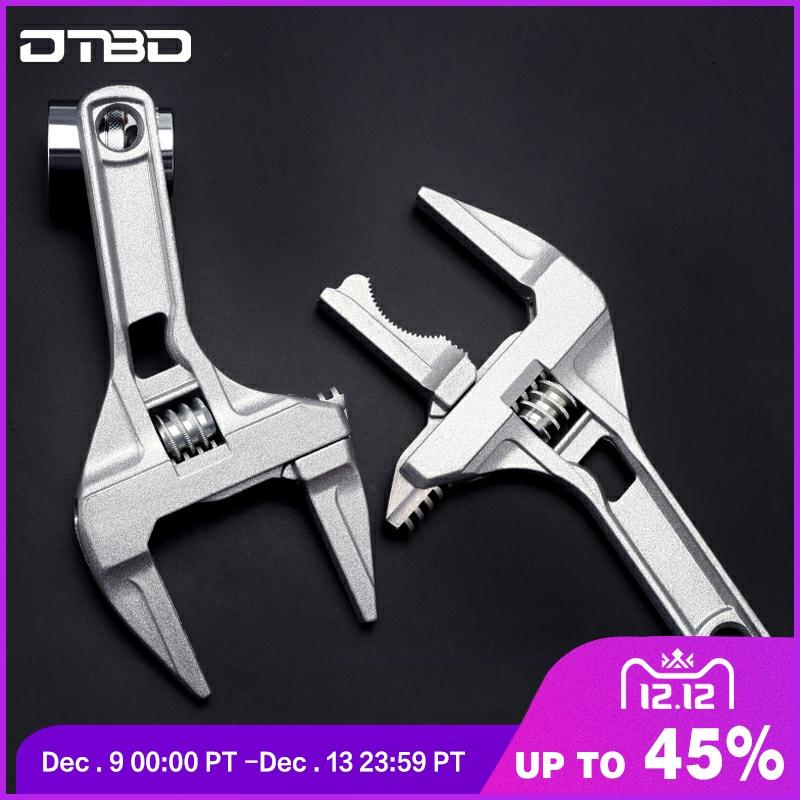 1pc Universal Snap Grip Wrench AluminumLarge Opening Adjustable Anti-slip Labor-saved Torque Spanner Bathroom Repair Tools