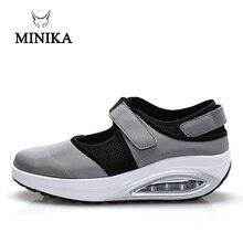 MINIKA/женская спортивная обувь; светильник для пожилых людей; обувь на платформе; zapatos mujer; кроссовки; feminino; дышащая обувь для фитнеса