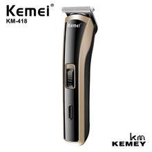 Kemei profissional dos homens mini poderosa máquina de cortar cabelo elétrica aparador cabelo ferramenta estilo aço carbono cabeça corte KM-418