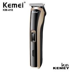 KEMEI Professional męska Mini potężna elektryczna maszynka do strzyżenia włosów maszynka do włosów urządzenie do stylizacji do cięcia stali węglowej KM 418 w Trymery do włosów od AGD na