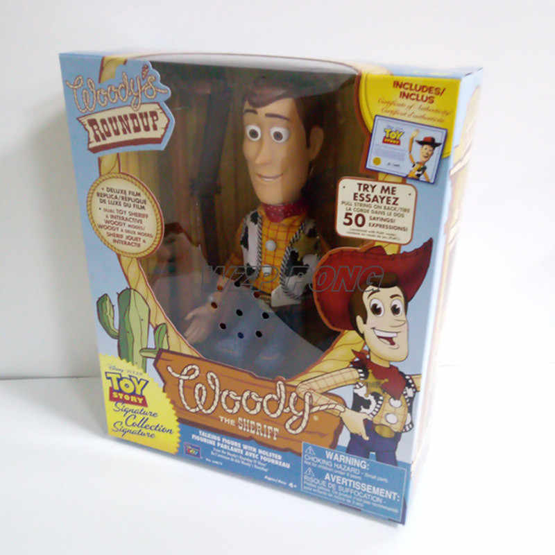 30 CENTÍMETROS Toy Story Woody Figurine Música Bonecas Brinquedos PVC Action Figure Collectible Modelo Toy Kids Presente