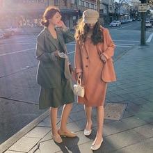 цена Blazer casual suit 2019 autumn new fashion women's two-pieces blazer+slip dress suit онлайн в 2017 году