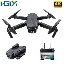 HGIYI SG107 Mini RC Drone z kamerą 1080P 4K 2 4Ghz WIFI FPV składany Quadcopter przepływ optyczny RC drony zabawki-helikoptery VS E58 tanie tanio 4 k hd nagrywania wideo Kamera w zestawie Brak About 150m Build-in 6 Axis Gyro Naprawiono ostrości 28*22*5 5 cm 4 kanałów