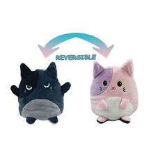 Kawaii acessórios presente de aniversário jouet enfant polvo de pelucia reversivel flip boneca de dupla face brinquedos unicornio panda unicórnio