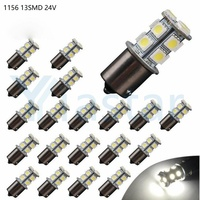 100pcs 24V 5050 13 SMD 1156 BA15S 1157 BAY15D LED Bulbs Auto Car Light Source Off Road Driving Brake Light Turn Signal LED light