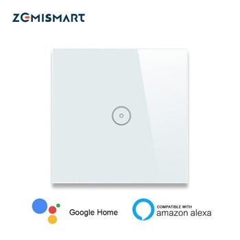 Maison intelligente ue 1 Gang 2 Gang 3 Gang Wifi interrupteur mural Alexa Google maison tuya APP télécommande panneau lumineux
