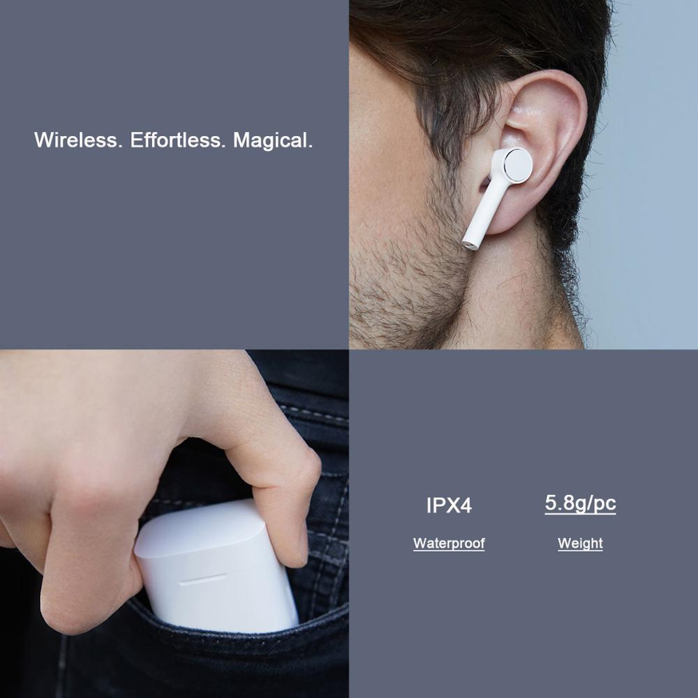 Original Xiao mi Airdots Pro mi Air Bluetooth écouteur Tws et commutateur HD Pause automatique contrôle du robinet pour IOS téléphone Android livraison directe - 6