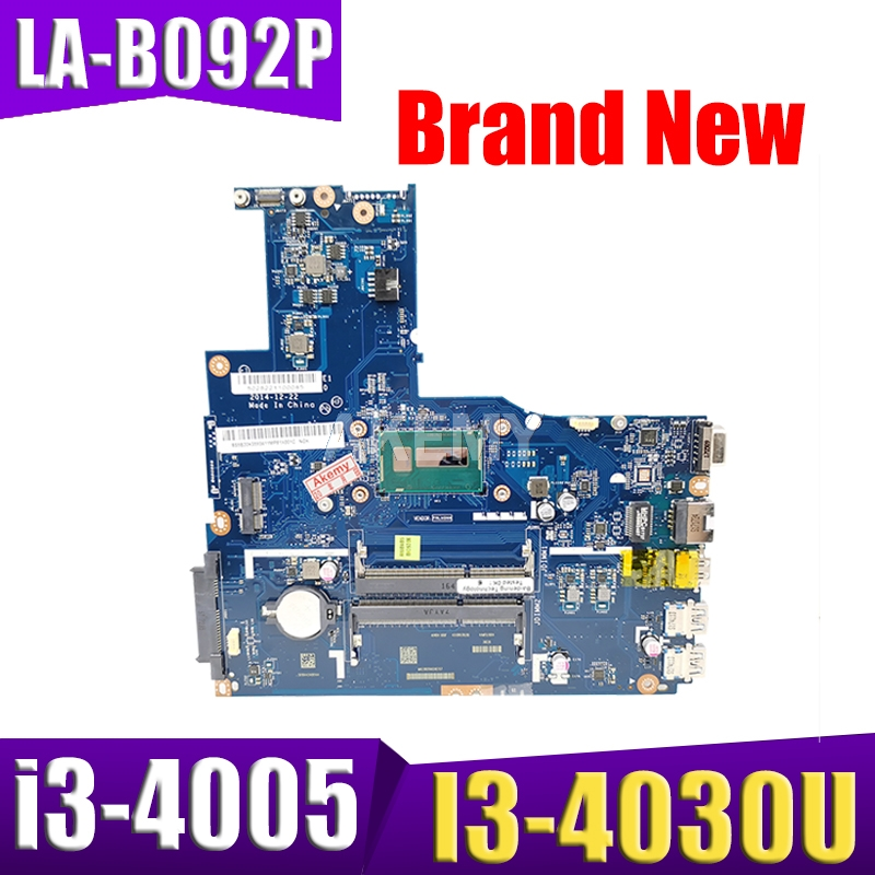 New ZIWB2/ZIWB3/ZIWE1 LA-B092P For <font><b>Lenovo</b></font> <font><b>B50</b></font>-70 Laptop Motherboard SR1EN I3-4030U i3-4005 DDR3L 100% Tested image