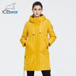 ICEbear 2020 Женская весенняя куртка женская куртка с капюшоном повседневная одежда качественного пальто марки одежды GWC20035I