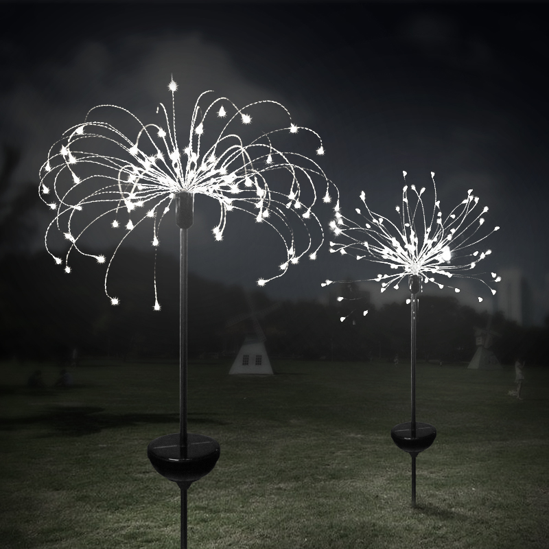 Outdoor Solar Garden Decorative Lights LED Powered Landscape Light-DIY Flowers Fireworks Trees For Walkway Patio Lawn Backyard