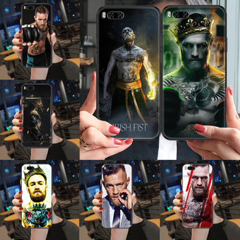 Irish Fighter Conor McGregor Phone case For Xiaomi Mi Max Note 3 A2 A3 8 9 9T 10 Lite Pro Ultra black art cover painting funda image