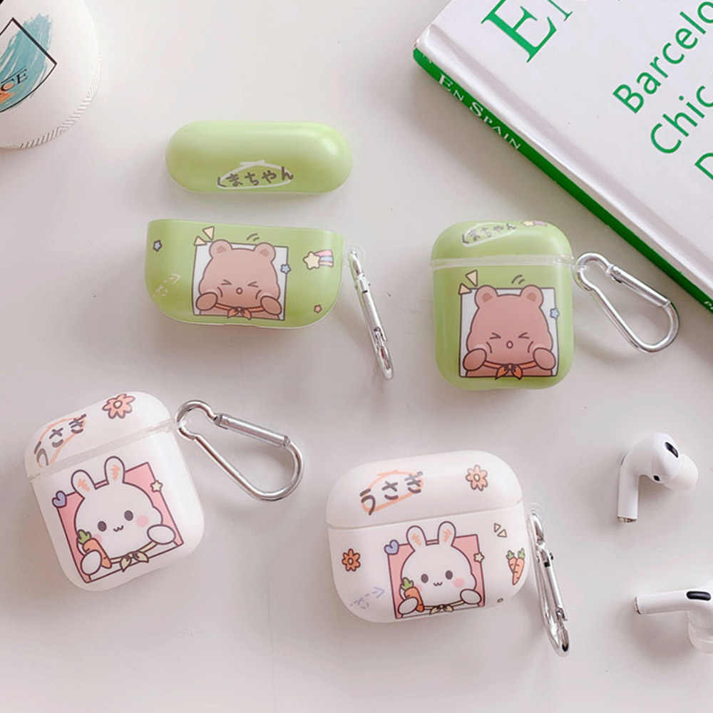 Cute Bear Rabbit Cases For Airpods Pro 2 Case Soft Imd Protective