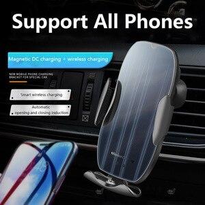 Image 2 - Chargeur de voiture sans fil rapide 15W pour iPhone 11 XS XR X 8 7 Samsung S20 S10 Qi capteur automatique magnétique USB pour Xiaomi Redmi Huawei