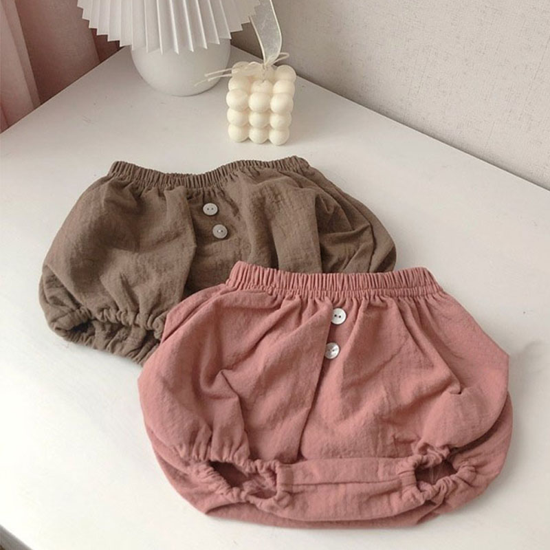 Infant Kids Harem Pants Cotton Linen Shorts Newborn Baby Boys Girls Short Trousers Pp Pants Kids Bloomers 0-24M