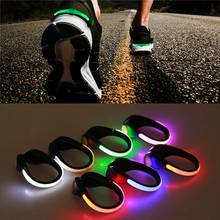 LED Luminous Shoe Clip Light Outdoor Running cycling Bicycle