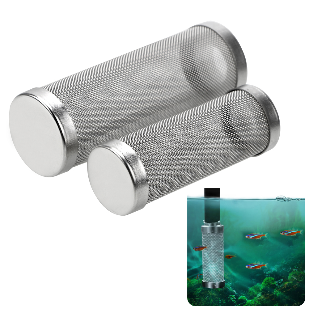 Shrimp Net Special Shrimp Cylinder Filter Stainless Steel Filter Inflow Inlet Protect S/L Size Aquarium Accessories