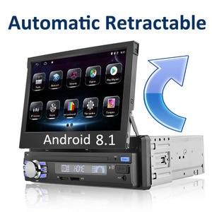 "Image 1 - อัตโนมัติวิทยุติดรถยนต์1 Din Android 7 ""GPS นำทาง Bluetooth กล้อง AM RDS 1080P USB หน้าจออัตโนมัติเครื่องเล่นมัลติมีเดีย"